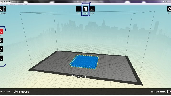 Object manipulation interface for MakerBot Replicator 2, a desktop 3D printer. Image credit: SuperBlobMonster / CC BY-SA 3.0