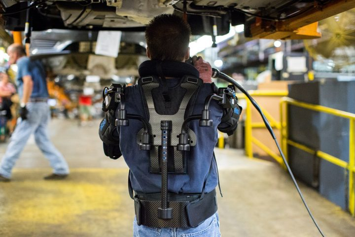 The exoskeleton that Ford is currently testing, does not limit movements, but provides support and allows lifting heavier items easier. Source: Ford