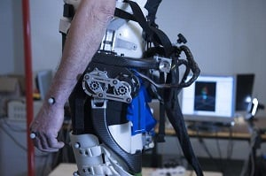 The personalized exoskeleton detects particularities of a user's gait. Image credit: EPFL