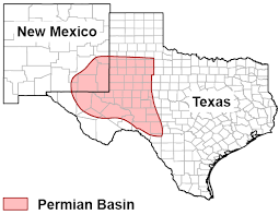 The Permian Basin stretches across part of west Texas and southeastern New Mexico.