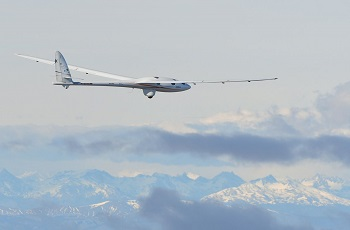 The pressurized Perlan 2 glider has soared to a maximum altitude to date of 32,500 feet. Image credit: Airbus