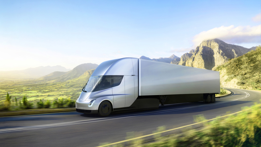 The Tesla Semi truck. Source: Tesla