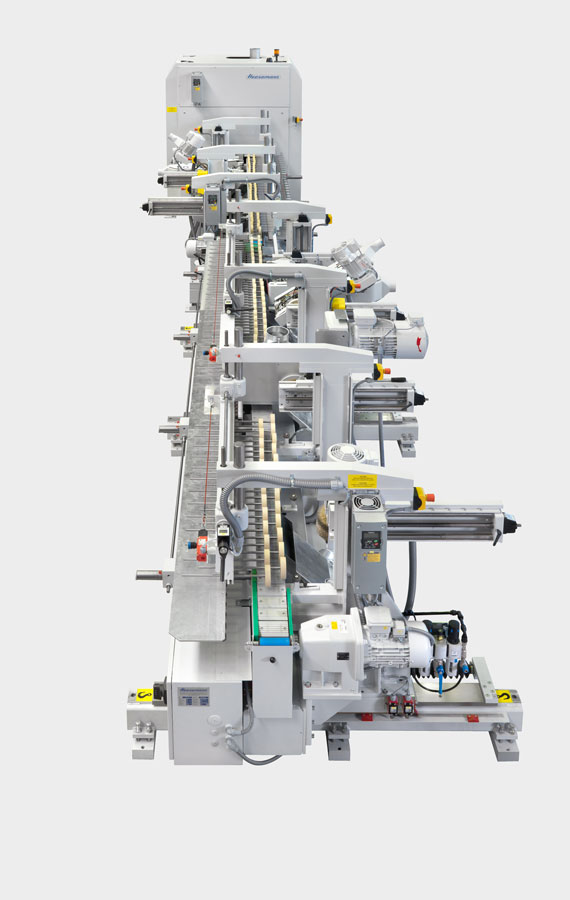 Figure 9 - Combination edge and profile sanding machines use belt sanding units and brush units. (Source: Heesemann)