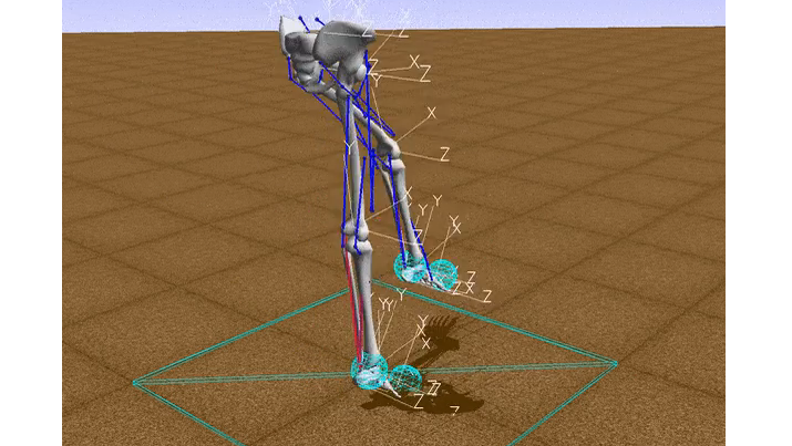Machine learning has taught a virtual skeleton to walk. Source: crowdAI.org