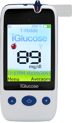 The iGlucose Blood Glucose Meter from Smart Meter.