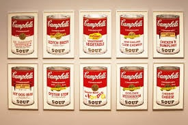 Pop artist Andy Warhol made Campbell soup cans a cultural icon.