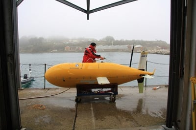 Mr B McBoatface prepares for his mission to follow a CO2 pipeline. Source: The Engineer