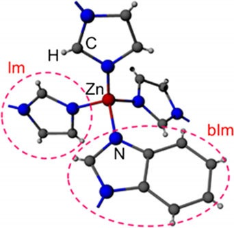 The structure of ZIF-62 (zinc imidazolate,benzimidazolate) showing the tetrahedral structure in two dimensions. Source: Ang Qiao / Penn State