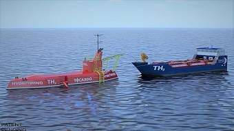 Platform designed to produce hydrogen from tidal power