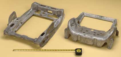 Figure 7 - Magnesium die cast seat pan demonstrates how complex, lightweight die castings can improve productivity and reduce costs by replacing multiple parts. Source: NADCA