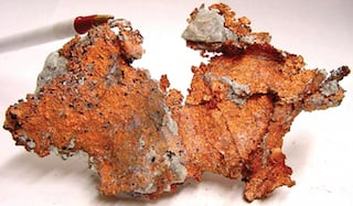 The ore is heated to more than 1,500 degrees Fahrenheit to separate the copper for collection. Image credit: USGS.