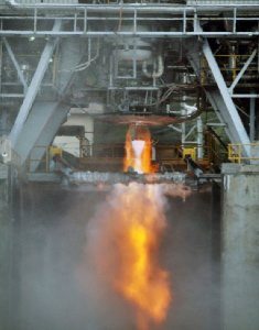 Test firing of ISRO's high thrust cryogenic rocket engine. Source: ISRO