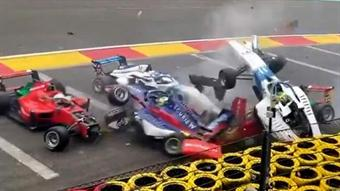 Watch: Titanium 'halo' saves more lives in huge race crash