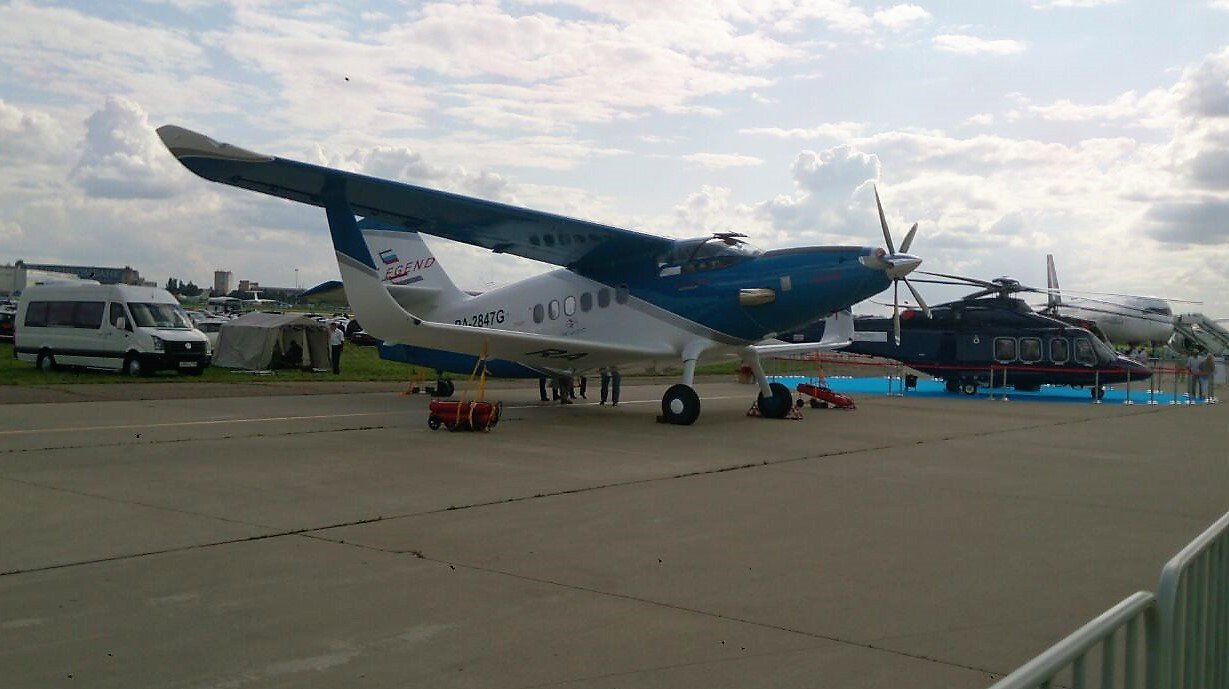 Russia's first composite TVS-2DTS aircraft at MAKS-2017. Source: Vladimir Vavilov