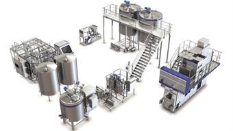 New processing line for white cheese products