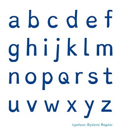 An example of Dyslexie font letters. Source: Christian Boer