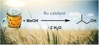 A ruthenium chloride catalyst was found to be effective in converting beer, or rather, the ethanol in beer, into butanol. Source: University of Bristol