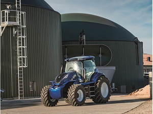 The methane-powered concept tractor fits the company's vision for the sustainable future of farming. Source: CNH Industrial/New Holland