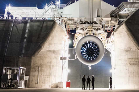 GE9X at GE's Peebles Test Operation facility in Ohio. Source: GE Aviation