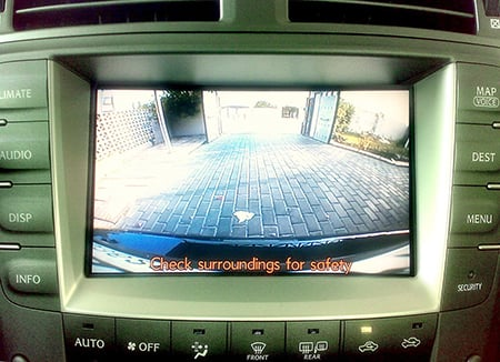 Backup camera system on a Lexus. Source: banoootah_qtr on Flickr.com/CC BY 2.0, via Wikimedia Commons.