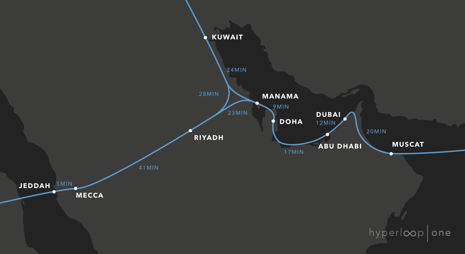 Radical Change In Transportation Hyperloop One Nears A Milestone Chapter 9 Electrical Systems Engineering360 Click To Enlarge Possible Routes And Around The Persian Gulf States