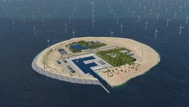 The island would be a hub for distributing power generated at sea. Source: TenneT TSO B.V