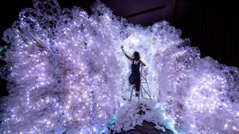 Cave of plastic built to highlight plastic pollution issue