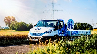 Video: Fuel cell-powered transporter hits the road in Europe