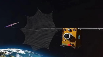 Startup launches 'cleaning' robot into space