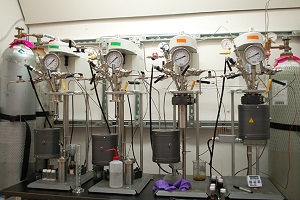 The process combines biological fermentation with conventional catalytic refining. Credit: University of Minnesota
