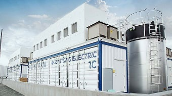 The 2 MW/8 MWh redox flow battery system. (Source: Sumitomo Electric Industries)