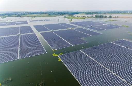 China launches world's first floating solar farm.