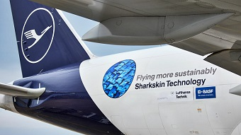 Shark-inspired film fuels aircraft sustainability