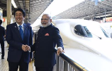 In 2016, Abe and Modi rode a bullet train together in Japan.