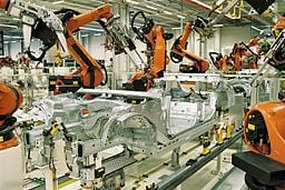 MES technology offers a high-level look at highly automated production lines. Credit: Wikimedia