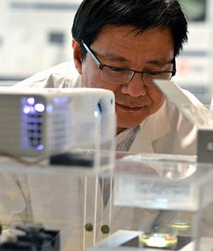 Keekyoung Kim has great hopes for the bio-ink he is researching in his lab. Source: University of British Columbia