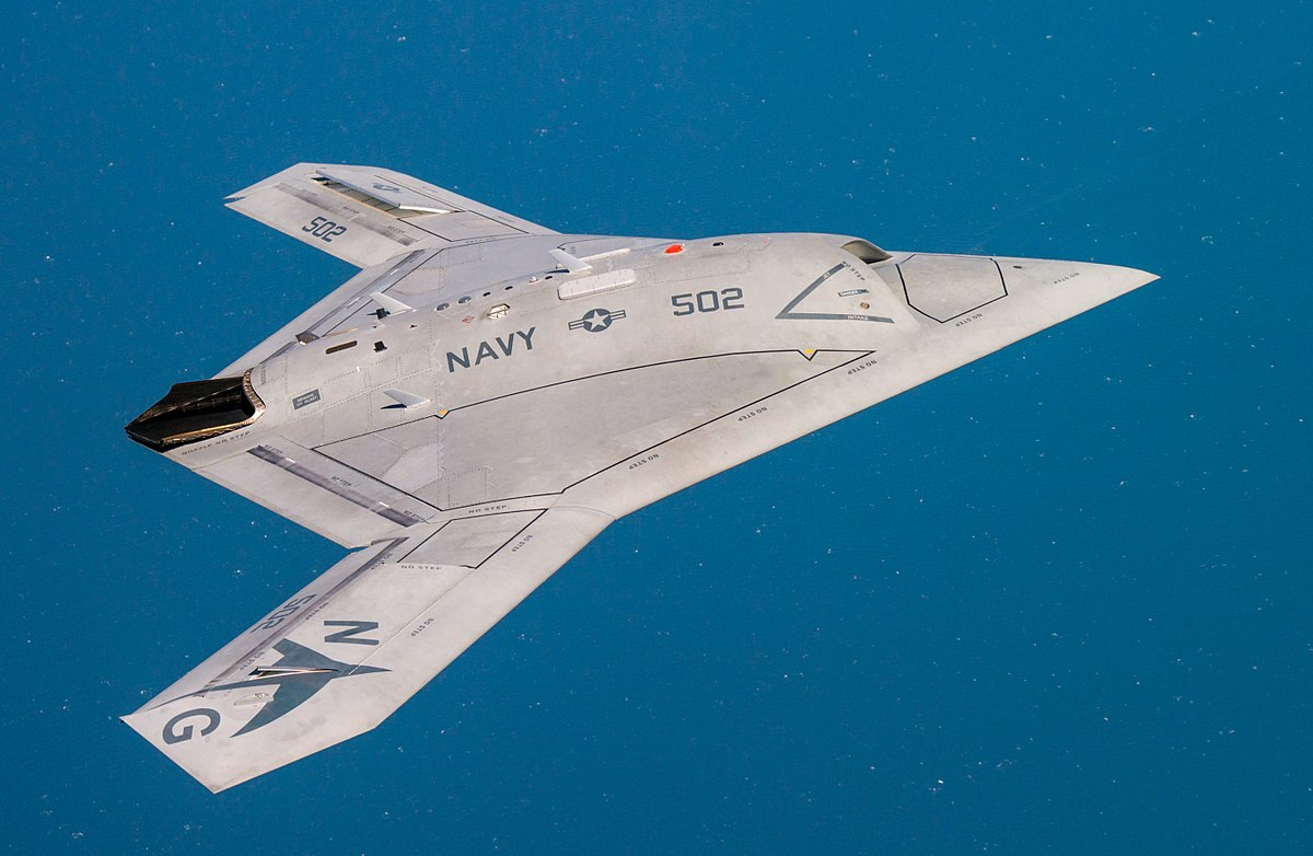 Northrop Grumman intended to develop its X-47B demonstration vehicle into a battlefield-ready MQ-25 before dropping out of the competition in 2017. Source: U.S. Navy