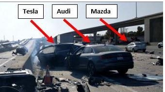 Why did a Tesla veer left before a fatal crash?
