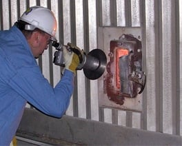 Observing a boiler tube leak with thermography.