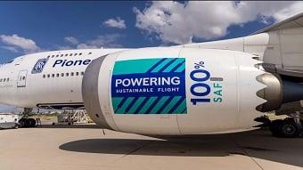 Successful 100% sustainable aviation fuel test flight