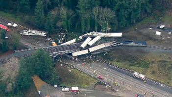 PTC might have prevented the December 18 accident that killed three an injured more than 60. Credit: NTSB/Washington State Patrol