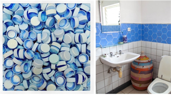 Decorative Tiles From Discarded Plastic
