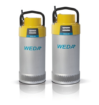 The new WEDA 50 and 60+ dewatering pumps. (Source: Atlas Copco Portable Energy)
