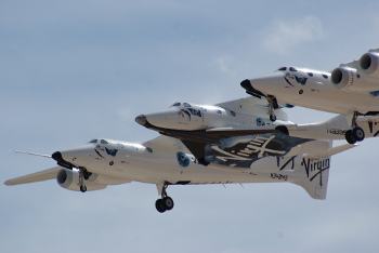 Virgin Galactic's SpaceShipTwo in flight. Credit: Jeff Foust