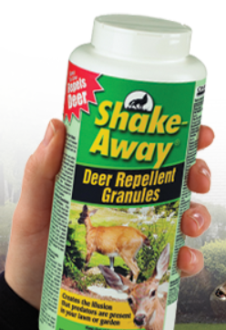 Figure 3—Powdered repellents like Shake-Away discourage pests with killing them. Source: Shake-Away