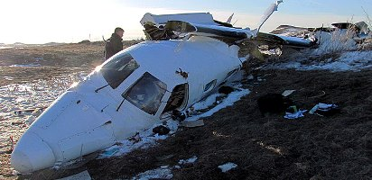 The pilot leveled the wings, but the aircraft was too low to recover. Credit: TSB