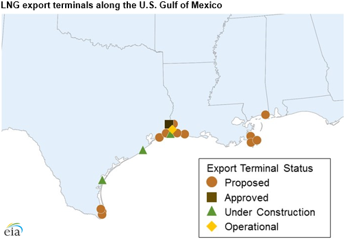 LNG Milestone As Ship Sails From Gulf Coast Terminal Engineering - Us gulf coast map