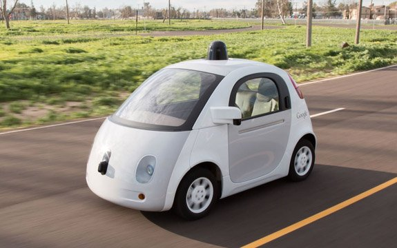 Driverless cars such as the Google prototype (above) could lead to safer roads. Source: Google