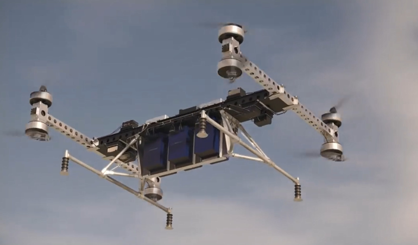 Boeing's cargo aerial vehicle (CAV) can haul payloads up to 500 lb (227 kg). Source: Boeing