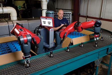 Humans train Baxter for a variety of tasks on the factory floor. Source: Rethink Robotics